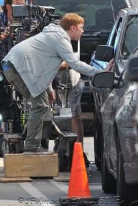 RUPERT GRINT FILMING 'SUPER CLYDE'