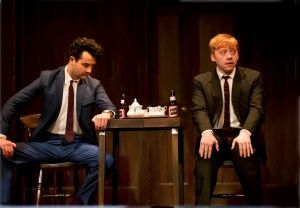 Daniel Mays (Potts) and Rupert Grint (Sweets) in Mojo, photo by Simon Annand
